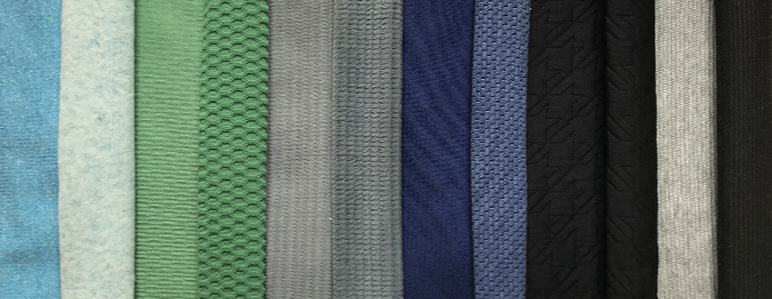 Fabric samples Spandex samples Cotton samples Mesh samples